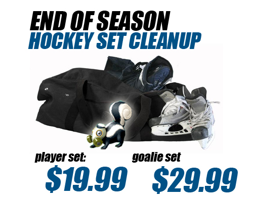 End of Season Spring Cleaning Hockey Bag Bacteria